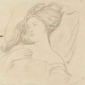 Fanny Cornforth, Study for 'Joan of Arc' by Dante Gabriel Charles Rossetti