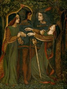How They Met Themselves, C.1850-60 by Dante Gabriel Charles Rossetti