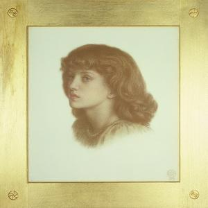 May Morris (Aged 9 Years) 1871 by Dante Gabriel Charles Rossetti