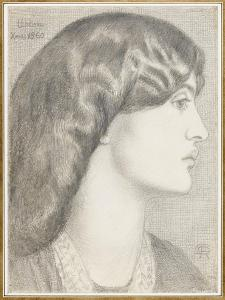 Mrs William Morris, 1860 by Dante Gabriel Charles Rossetti