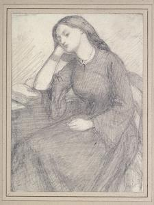 Portrait of Elizabeth Siddal, Seated by Dante Gabriel Charles Rossetti