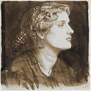 Portrait of Fanny Cornforth by Dante Gabriel Charles Rossetti