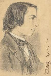 Portrait of William Michael Rossetti, 1846 by Dante Gabriel Charles Rossetti