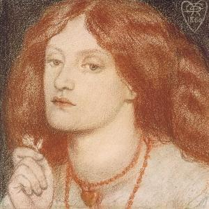 Regina Cordium or the Queen of Hearts, 1860 by Dante Gabriel Charles Rossetti