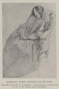 Rossetti's Finest Portrait of His Wife by Dante Gabriel Charles Rossetti