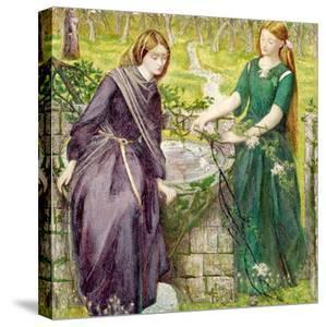 Dantes Vision of Rachel and Leah, 1855 by Dante Gabriel Rossetti