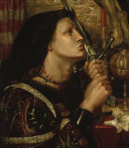Jeanne D'Arc Kuesst Das Schwert Der Befreiung, 1863 by Dante Gabriel Rossetti