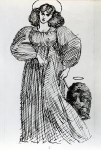 Mrs. Morris and the Wombat, 1869 (Pen and Ink on Paper) by Dante Gabriel Rossetti
