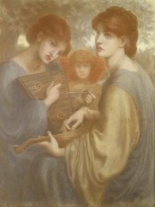 No. 1011 Study for 'The Bower Meadow', C.1872 by Dante Gabriel Rossetti