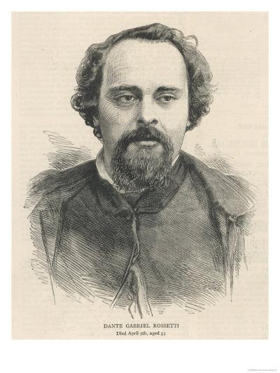 Dante Gabriel Rossetti Poet and Pre-Raphaelite Artist--Giclee Print