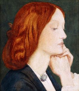 Portrait of Elizabeth Siddal, in Profile to the Right by Dante Gabriel Rossetti