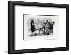 Rossetti Being Sketched by Elizabeth Siddal, September 1853 by Dante Gabriel Rossetti