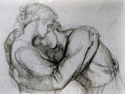 Study for 'The Blessed Damozel', C.1876 (Graphite on Paper)