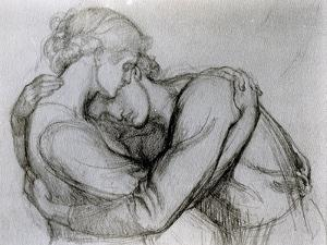 Study for 'The Blessed Damozel', C.1876 (Graphite on Paper) by Dante Gabriel Rossetti