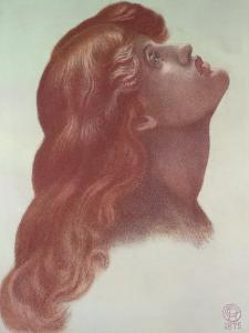 Study for the Head of the Left-Hand Figure from 'Astarte Syriaca', 1875 by Dante Gabriel Rossetti