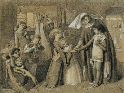 Dante's First Meeting with Beatrice-Simeon Solomon-Giclee Print