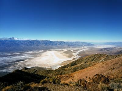 Dante's View in the Black Mountains, Death Valley's Badwater Basin and the Panamint Range, CA-Bernard Friel-Photographic Print