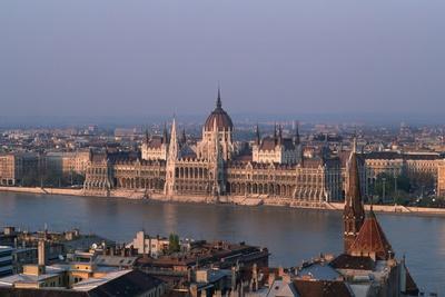 Danube in Budapest-Vittoriano Rastelli-Photographic Print