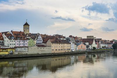 Danube River and Skyline of Regensburg, Bavaria, Germany-Michael Runkel-Photographic Print