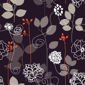 Floral Seamless Background by Danussa