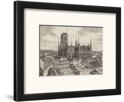 Danzig - St.Marienturm Links-Bruck-Framed Art Print