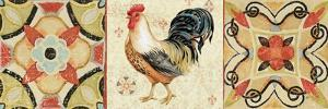 Bohemian Rooster Panel I by Daphne Brissonnet