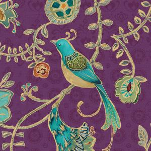 Bohemian Wings VI Aubergine by Daphne Brissonnet