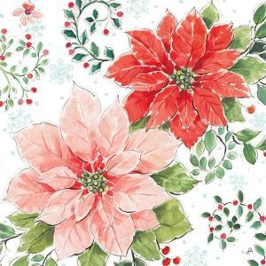 Country Poinsettias II by Daphne Brissonnet