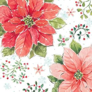 Country Poinsettias III by Daphne Brissonnet