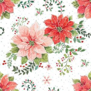 Country Poinsettias Step 01A by Daphne Brissonnet