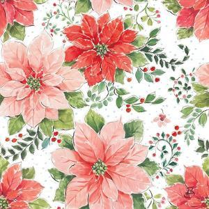 Country Poinsettias Step 02A by Daphne Brissonnet