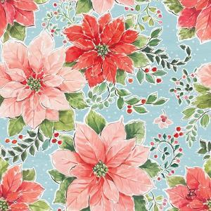 Country Poinsettias Step 02B by Daphne Brissonnet