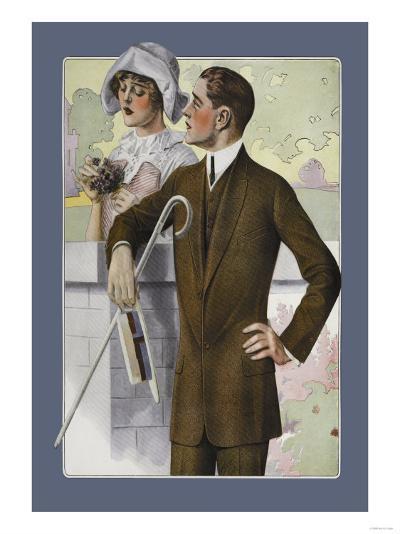 Dapper Man and Maudlin Girl--Art Print