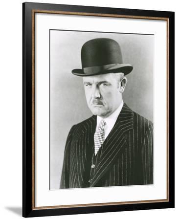 Dapper Man in Bowler Hat--Framed Photo