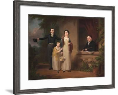 Darcy Lever with His Son John and Daughters Frances and Emelia Charlotte, C.1820--Framed Giclee Print