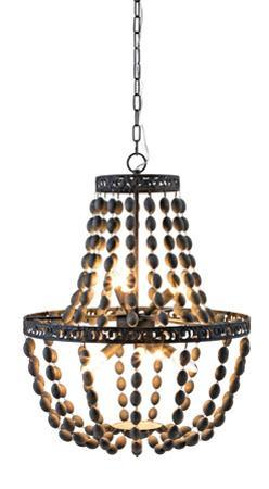 Darcy Wood Bead Chandelier