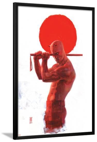 Daredevil: End of Days #8 Cover: Daredevil-Alex Maleev-Lamina Framed Poster