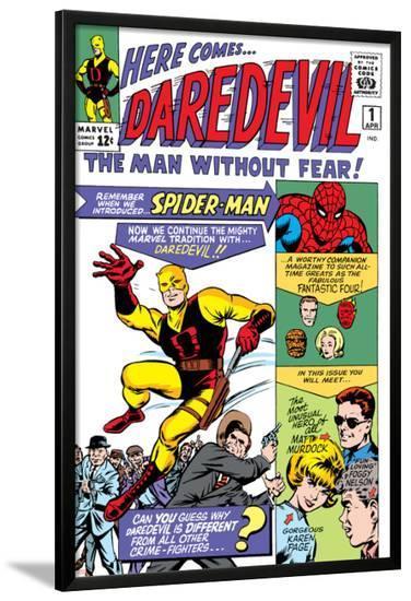Daredevil No.1 Cover: Daredevil-Joe Quesada-Lamina Framed Poster
