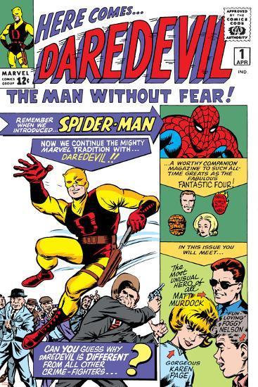 Daredevil No.1 Cover: Daredevil-Joe Quesada-Art Print