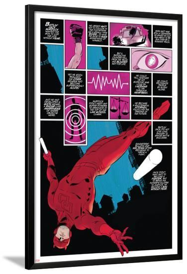 Daredevil No.1 Cover: Panels with Daredevel Jumping-Paolo Rivera-Lamina Framed Poster