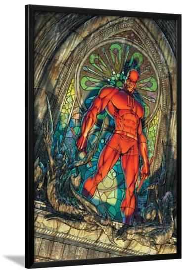 Daredevil No.100 Cover: Daredevil-Michael Turner-Lamina Framed Poster