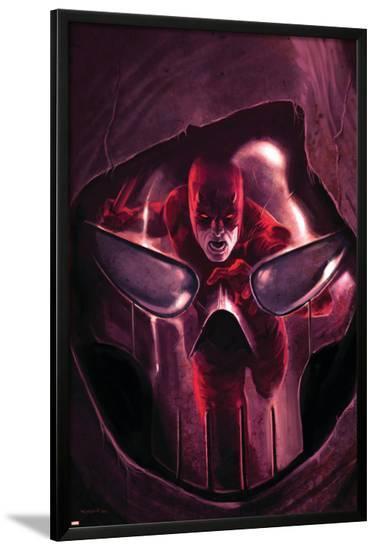 Daredevil No.105 Cover: Daredevil and Mr. Fear--Lamina Framed Poster