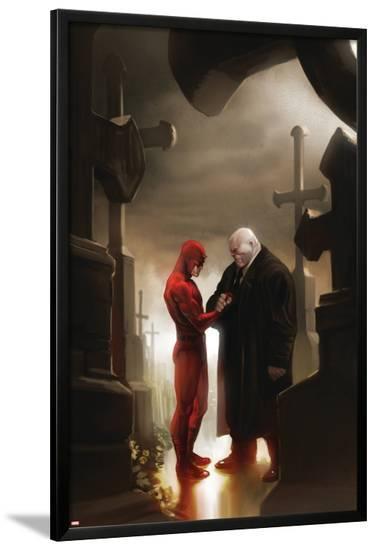 Daredevil No.117 Cover: Daredevil and Kingpin--Lamina Framed Poster
