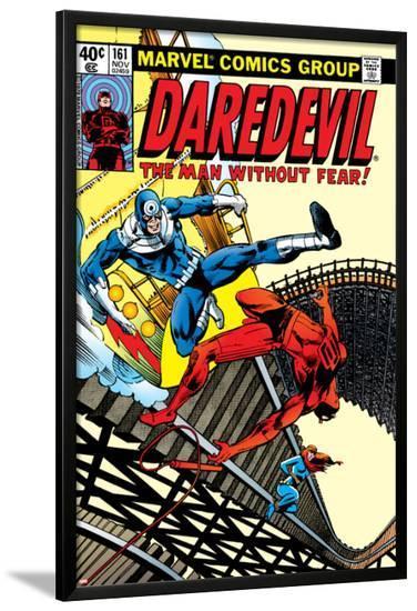 Daredevil No.161 Cover: Daredevil, Bullseye and Black Widow-Frank Miller-Lamina Framed Poster