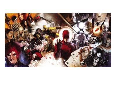Daredevil No.500 Cover: Daredevil and Kingpin--Art Print