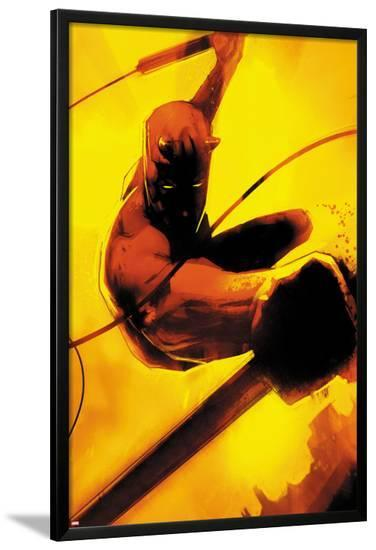 Daredevil: Reborn No.2 Cover: Daredevil Jumping-Jock-Lamina Framed Poster