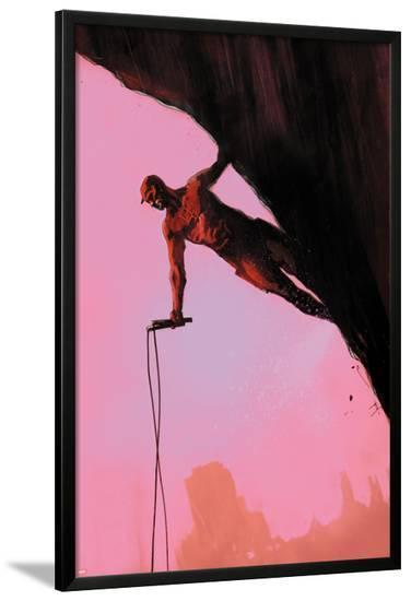 Daredevil: Reborn No.3 Cover: Daredevil Climbing-Jock-Lamina Framed Poster