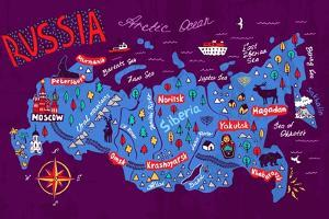 Cartoon Map of Russia. Travels by Daria_I
