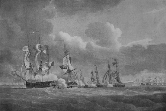 'Daring Action of Lord Cochrane', c1807-Nicholas Pocock-Giclee Print