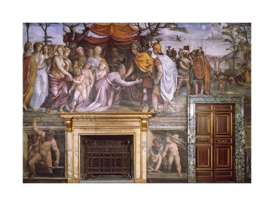 Dario's Mother Begging Alexander the Great and Vulcan at Forge with Cupids--Giclee Print